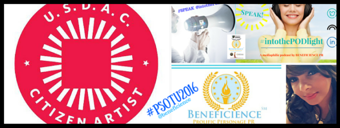 #PSOTU2016 Event Crowdcast - Beneficience.com Proific Perosnage PR Invites You Call-IN & Tune in January 30th 2016 for our #audo #storycircle PRodcast- SPEAK #intothePODlight @intothepodlight - SpeakIntoThePODlig