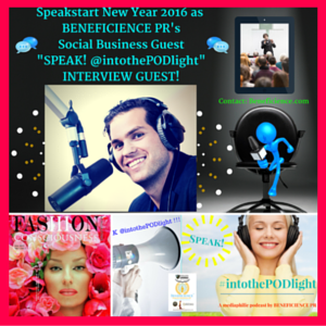 SPEAK! #intothePODlight PRodcast #007Winterview featuring guest and friend- Hollywood Fashion Designer, Fashion Consciousness Expert, and Mag Publisher- Valeria Von Leczycki Goncharova Barrett on the #PinkIssue #